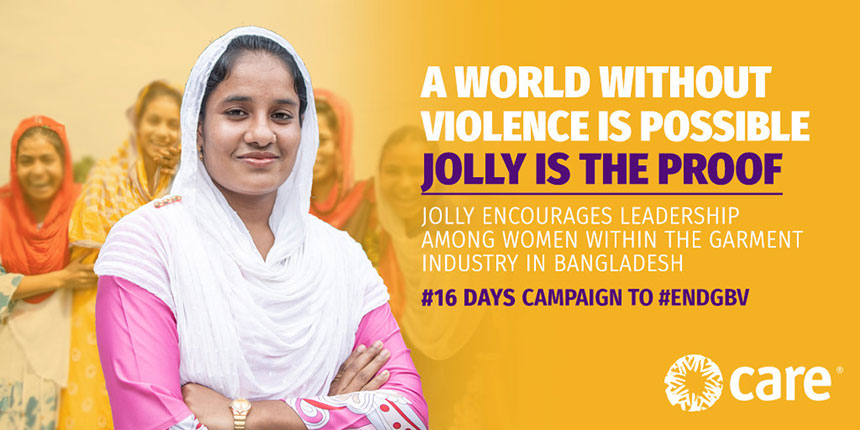 Photo of Jolly for #16days campaign