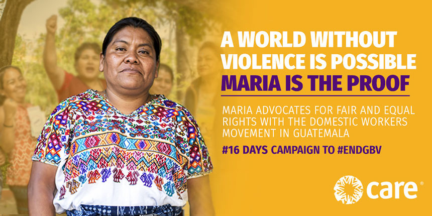Photo of Maria for #16days campaign