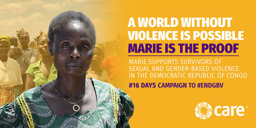 Photo of Marie for #16days campaign