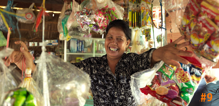 Mom Phally in her shop in Cambodia © Peter Caton