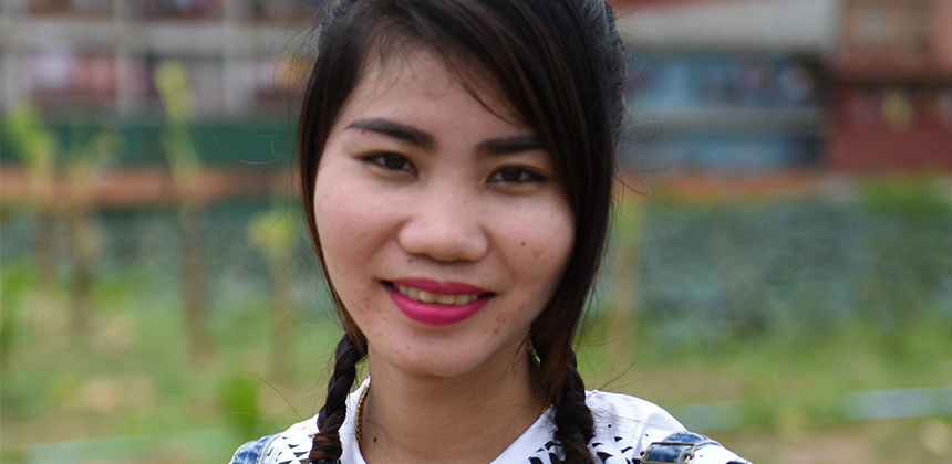 Arunny*, a garment worker in a Cambodian factory, who spoke out against sexual harassment at work