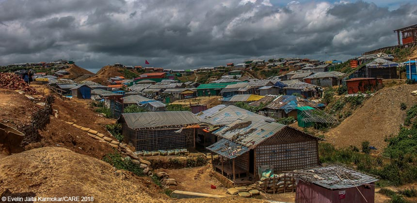 A view of Kutupalong camp in Cox's Bazar, Bangladesh