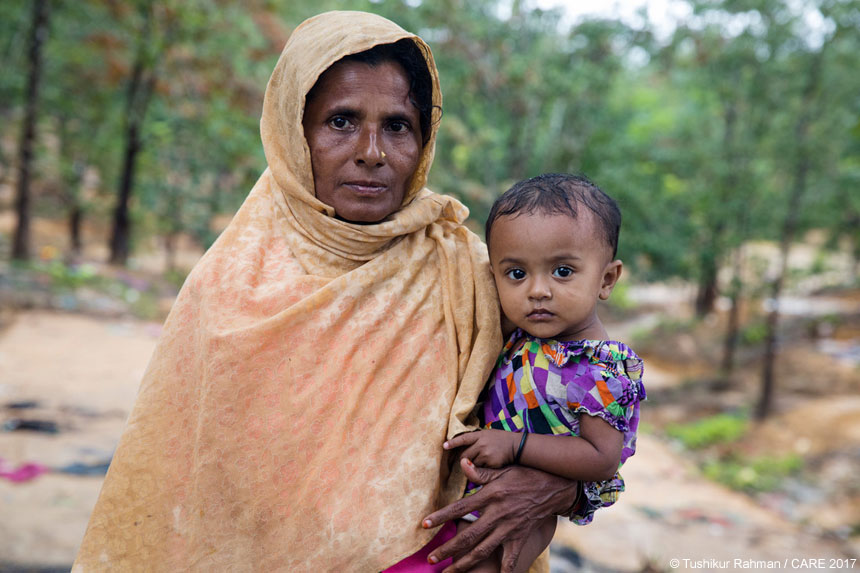 A woman and child in Bangladesh