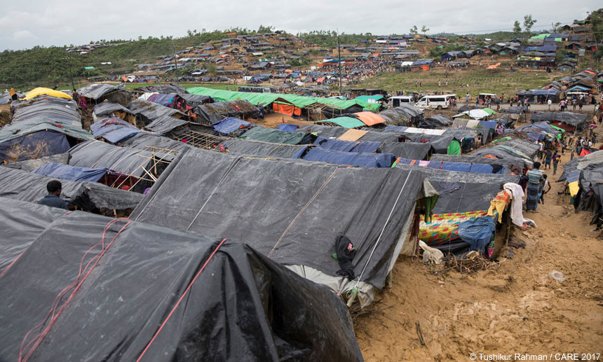 A view of the refugee camp
