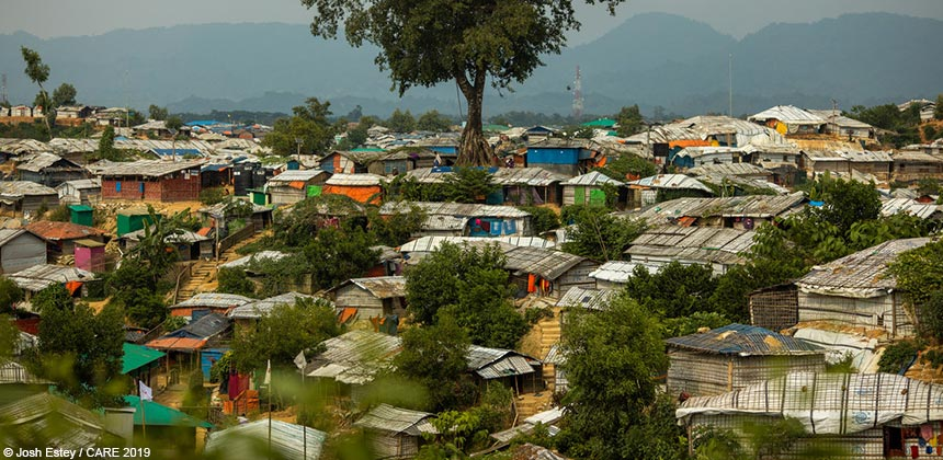 View of refugee camp in Cox's Bazar, Bangladesh
