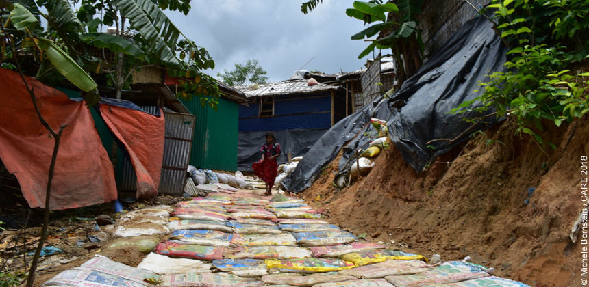 A pathway in refugee camp in Bangladesh