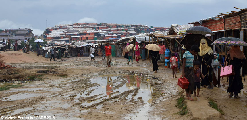 A scene at the refugee settlements in Bangladesh