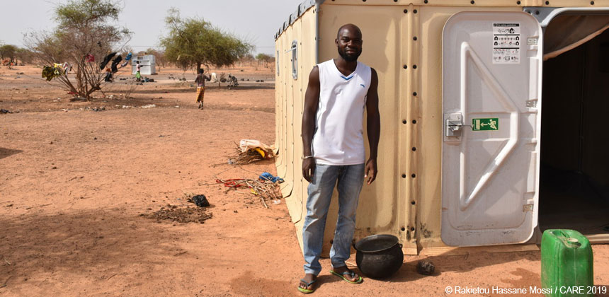 Aly Tapsoba, camp administrator at an IDP camp in Burkina Faso