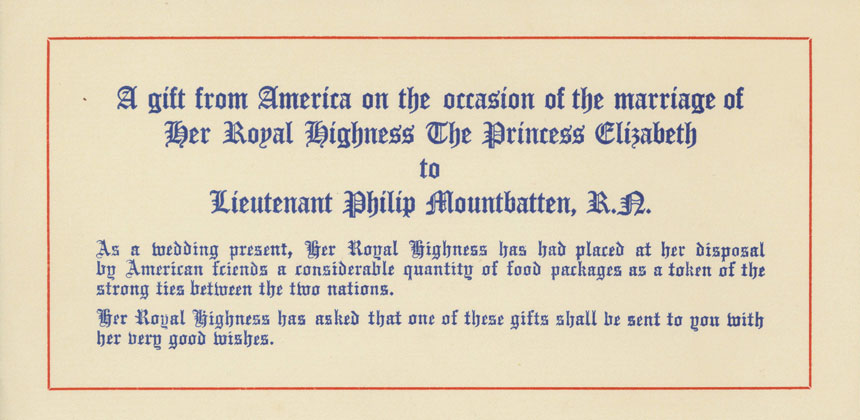 Note about marriage of Princess Elizabeth