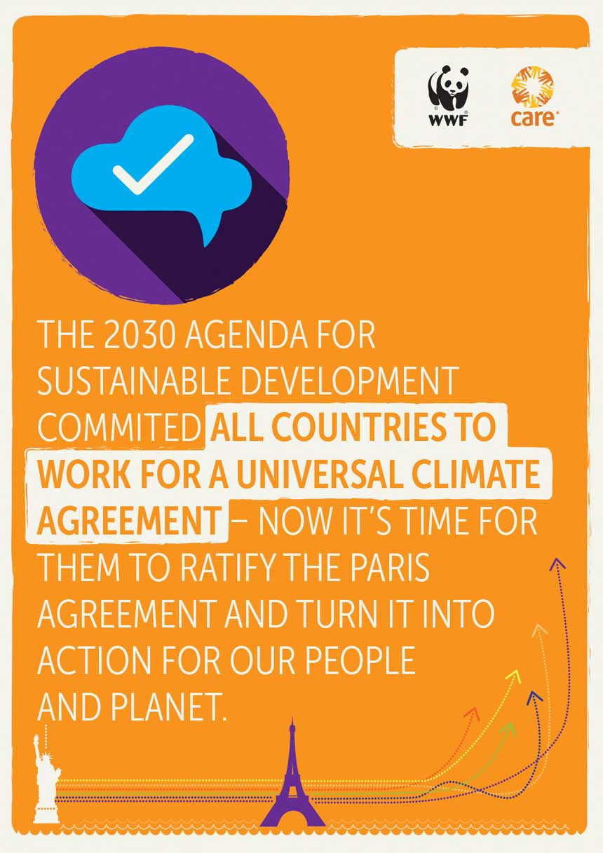All countries must work for a universal climate agreement