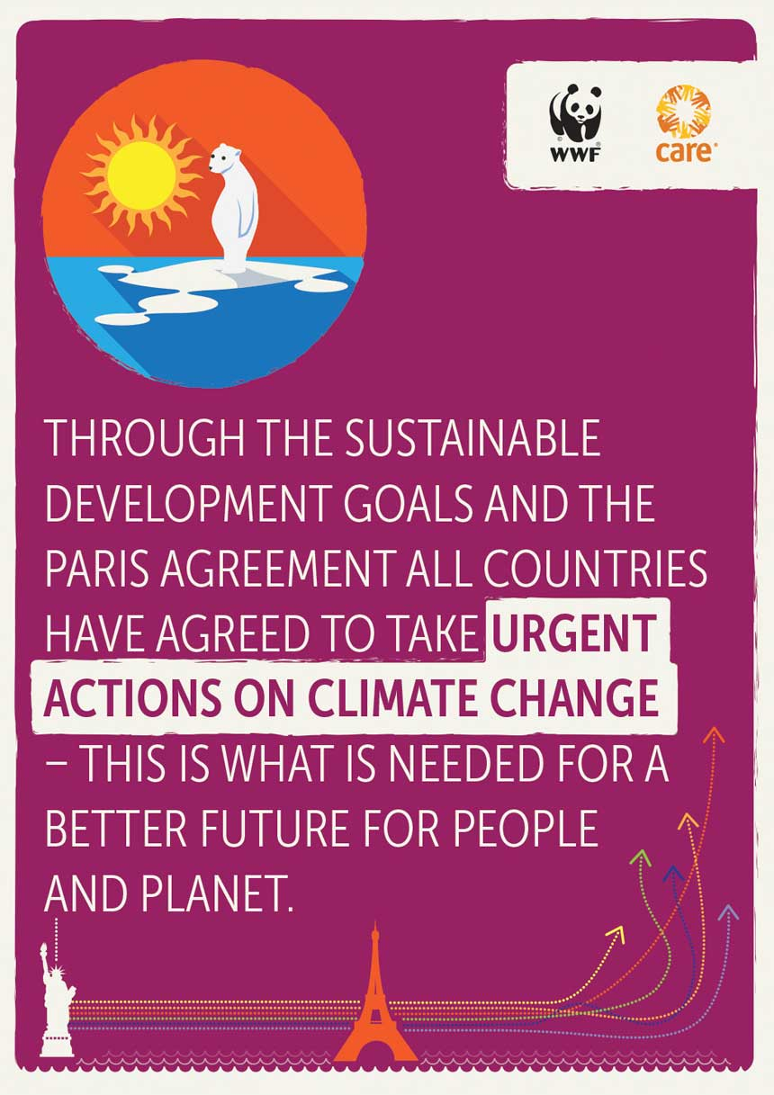 Urgent actions on climate change needed for a better future