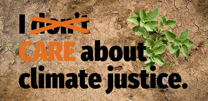 I care about climate justice (graphic)
