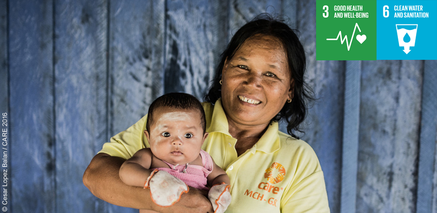 Health support worker in Cambodia