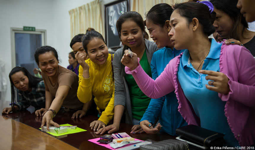 Women at training session in Cambodia