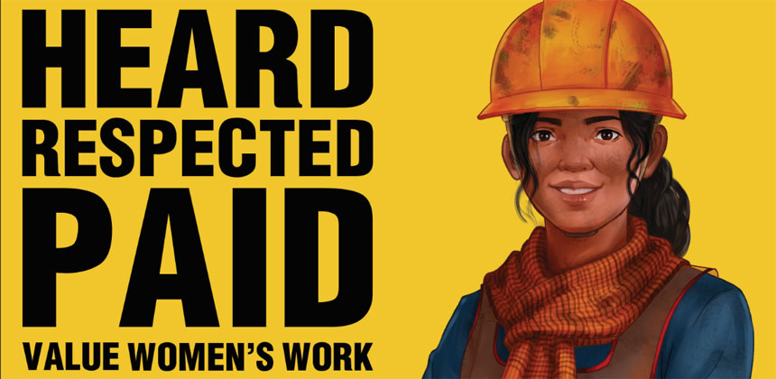 Heard respected paid - decent work poster