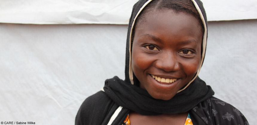 A 17-year-old girl from the Central African Republic