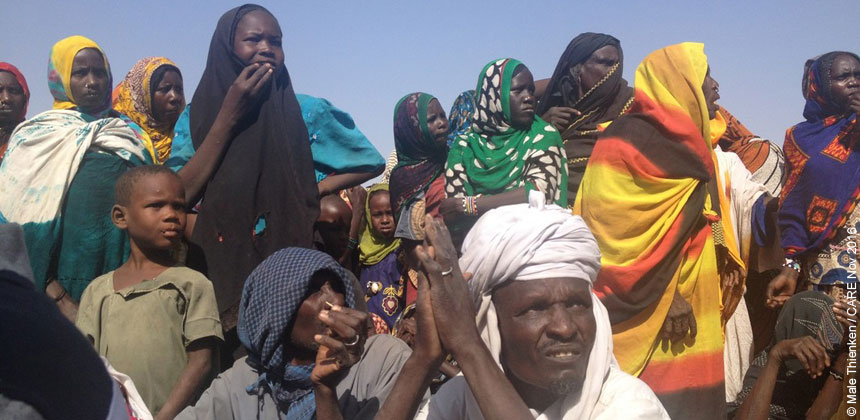 People at a refugee camp in Chad