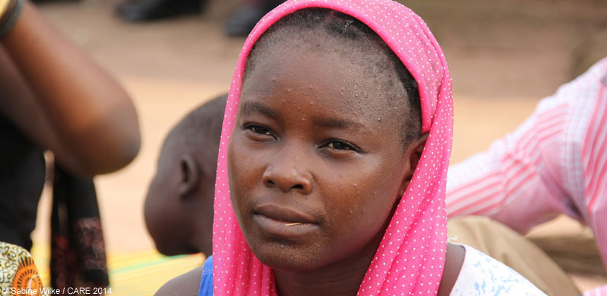 A woman in Chad