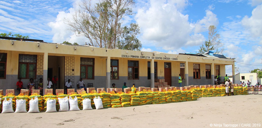 Food to be distributed in Mozambique