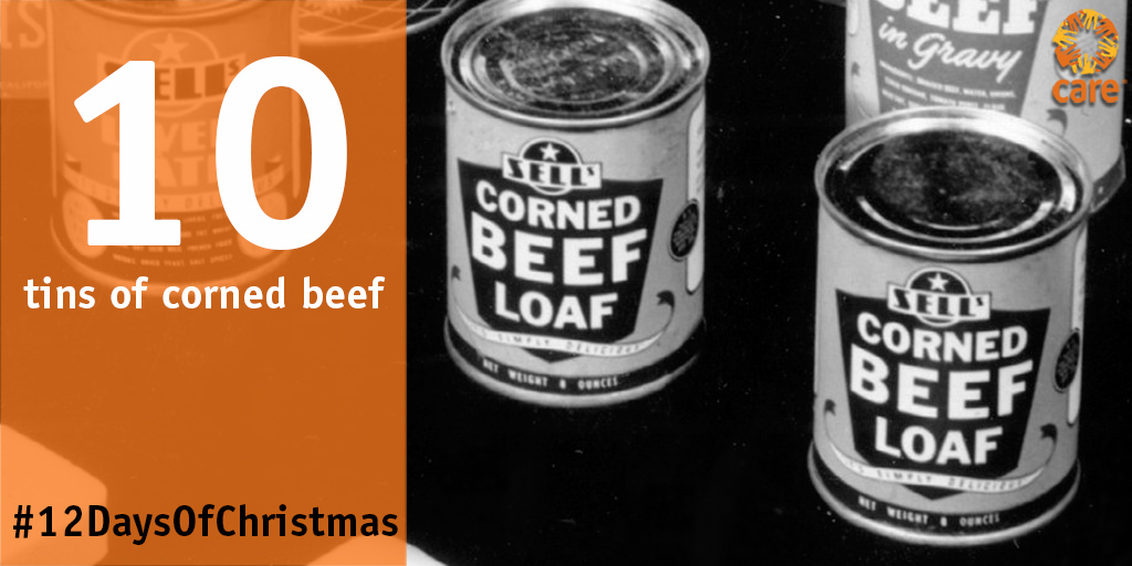 10 tins of corned beef