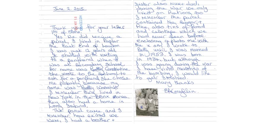 Care then and now a parcel and a penfriend care copy of a letter to care about care packages thecheapjerseys Image collections