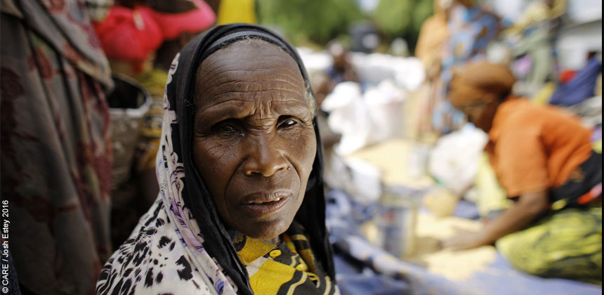 An elderly woman in Ethiopia