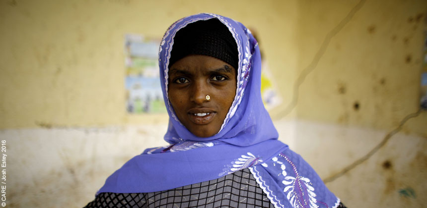 Nooria, a young woman in Ethiopia