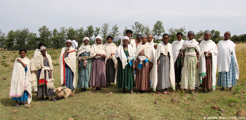 Savings group members in Ethiopia