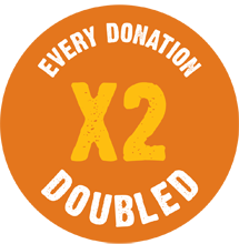 Every donation doubled