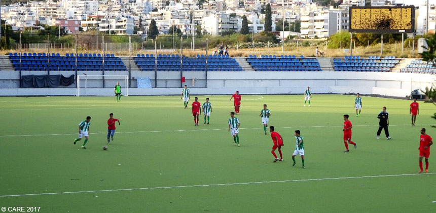 Football match in Greece