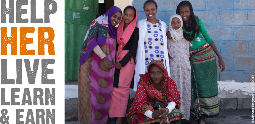 Group of girls in Ethiopia