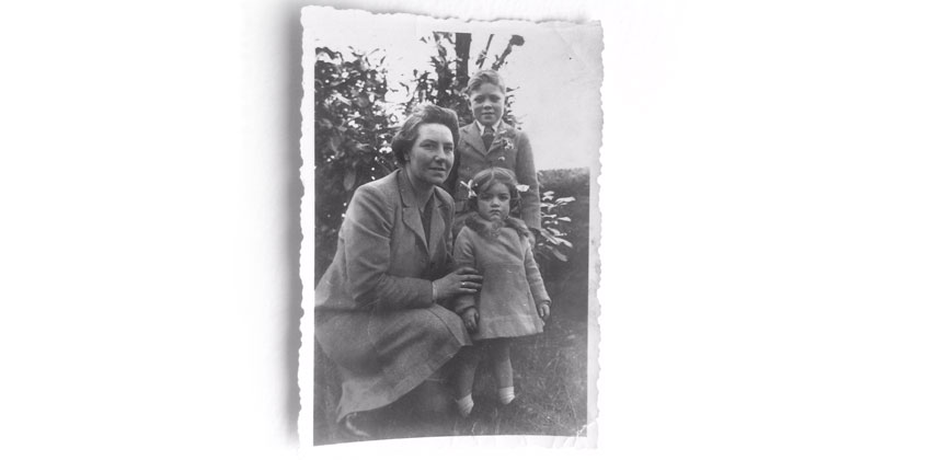 Hilary Lewis with her brother Keith and her mother Vera