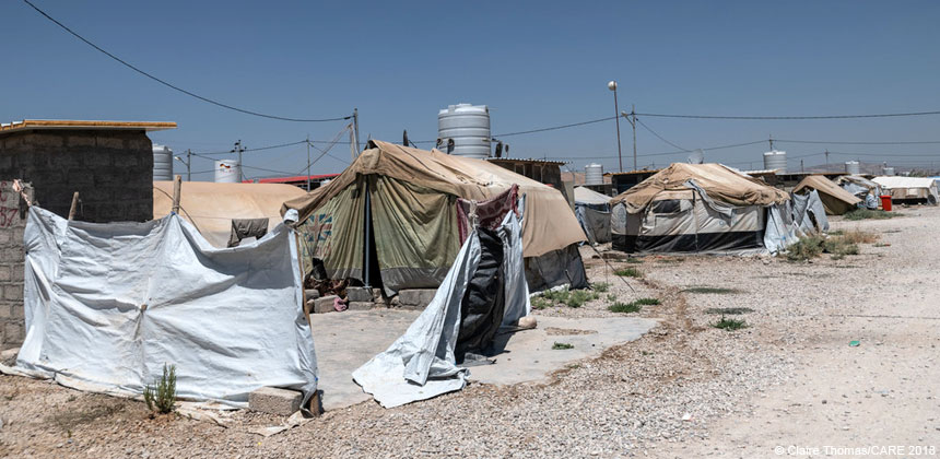 Tents in a camp for displaced people in northern Iraq