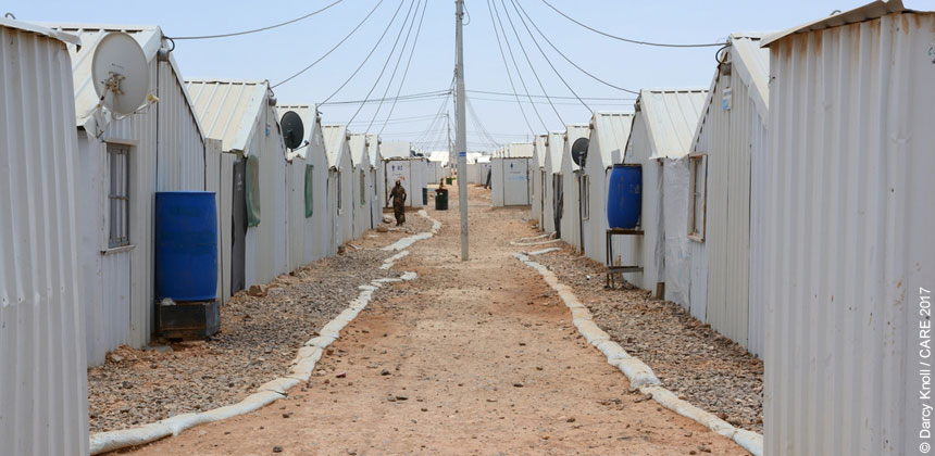 Shelters at Azraq refugee camp