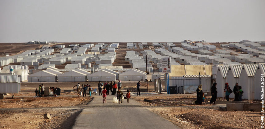 A view of Azraq camp