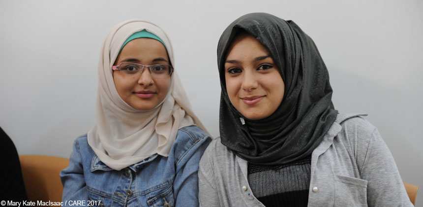 Yamama and Shahed at support group in Jordan