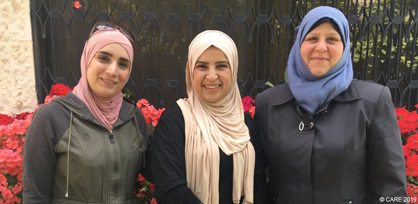Three women members of Women Leadership Council in Jordan
