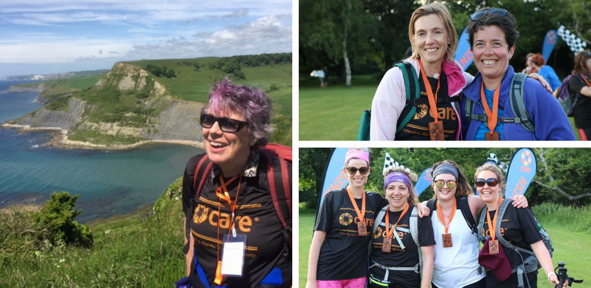 CARE jurassic coast women trek participants