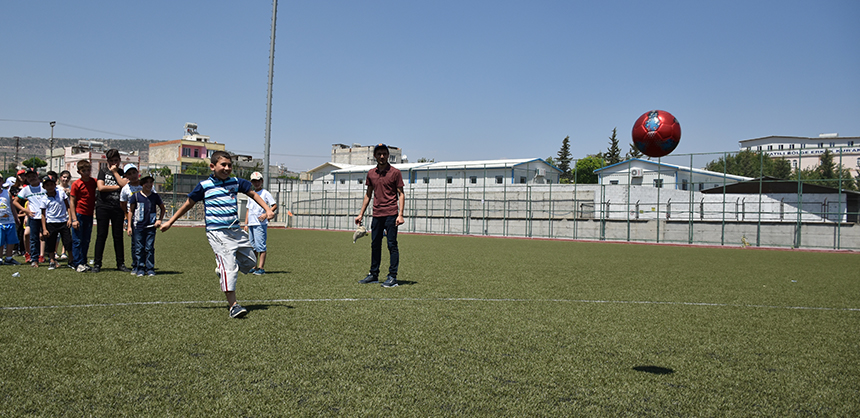 Activities at the festival included football