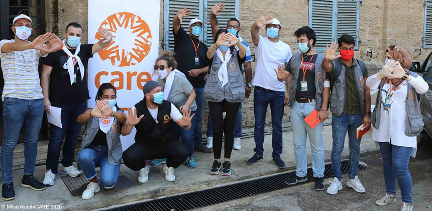 CARE staff in Beirut