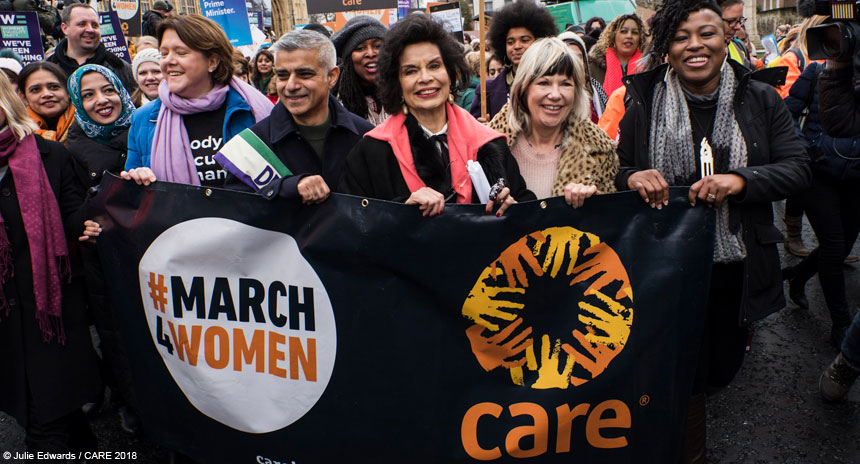 Sadiq Khan and others at the front of the #March4Women