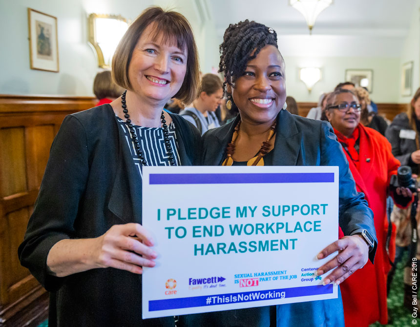 Harriet Harman and Shola Mos-Shogbamimu