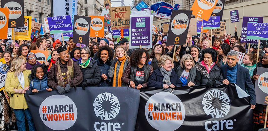 Front of march at #March4Women 2020 in London