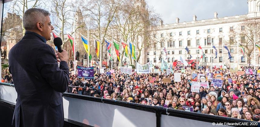 Sadiq Khan speaking at #March4Women 2020