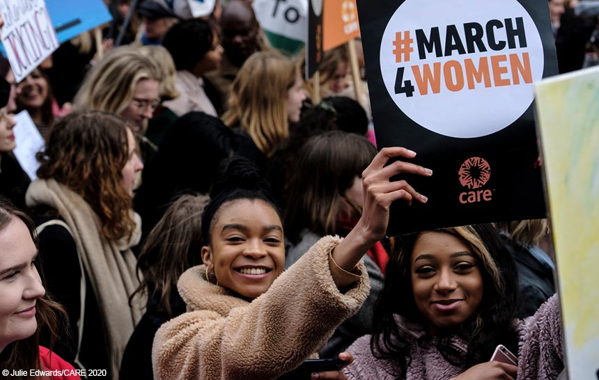 Marchers at #March4Women 2020