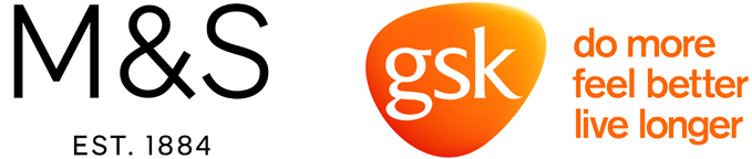 M&S and GSK logos