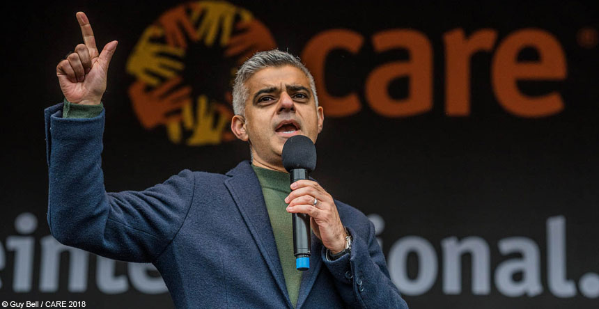 Sadiq Khan at the #March4Women