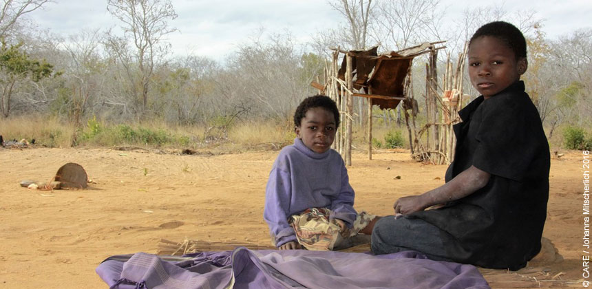 Artimiza and her sister in Mozambique