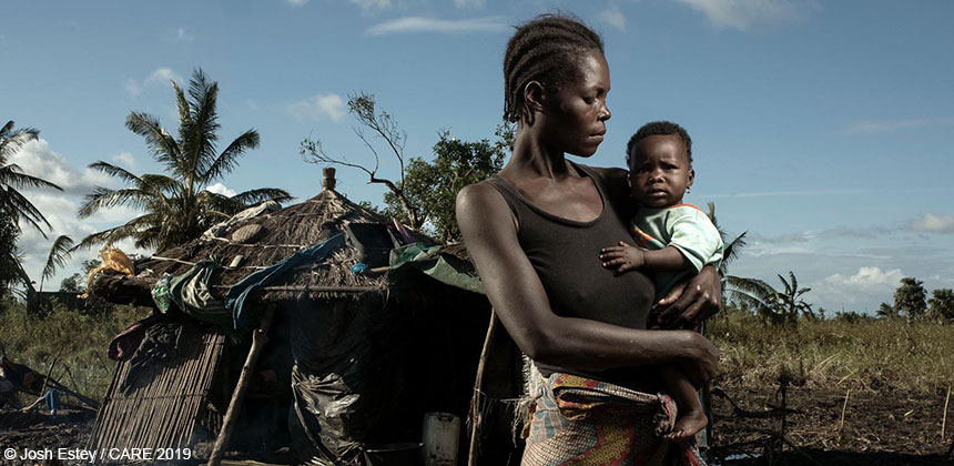 Woman and child in Mozambique