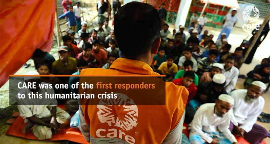 CARE was one of the first responders to the Myanmar refugee crisis